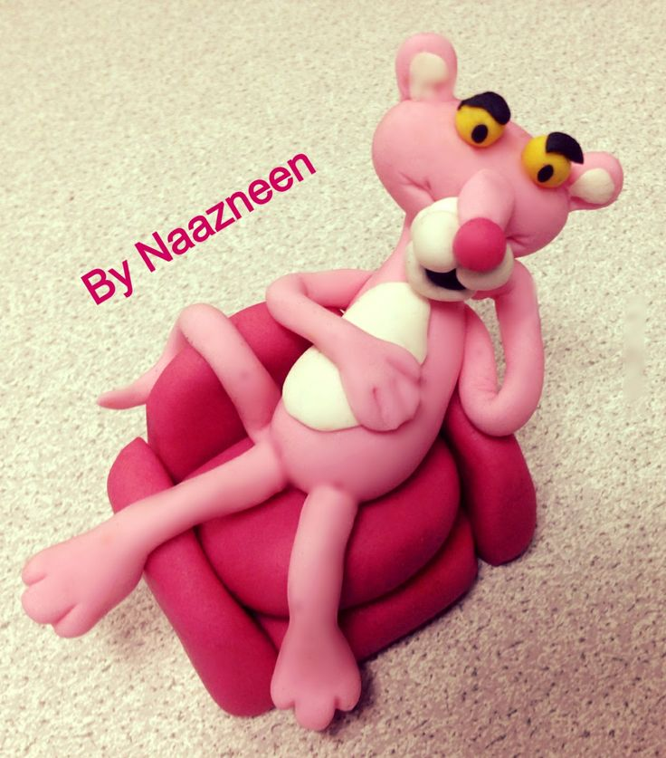 Pink panther cake topper by Naazneen