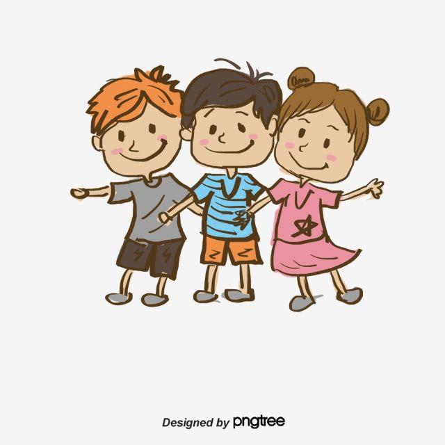 สามเพ อน เด ก ๆ ล กสามคน การ ต นภาพ Png และ Psd สำหร บดาวน โหลดฟร Kids Clipart Three Kids Cartoons Png