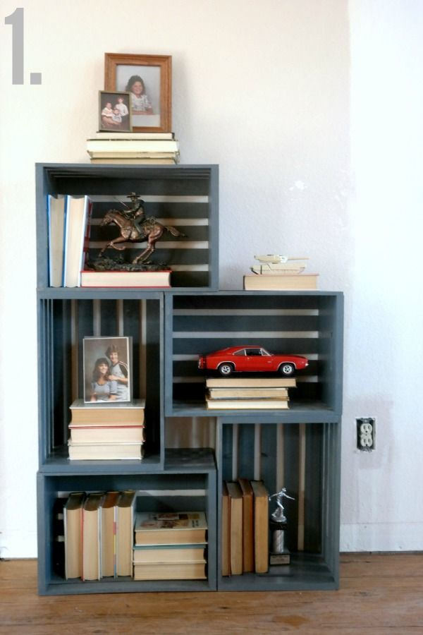 how to make a shelf out of the boxes