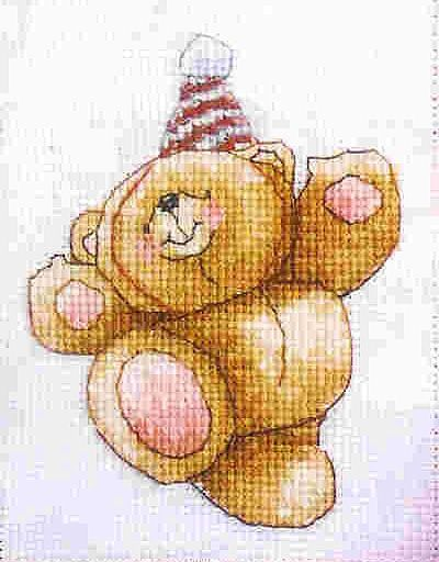 Forever Friends Party Bear The World of Cross Stitching  Issue 92 December 2004 Saved