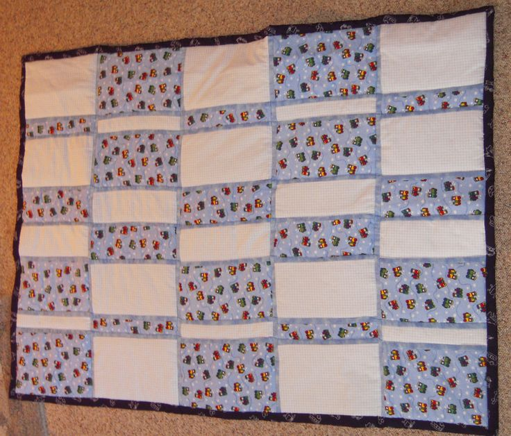 Blue Flannel Baby Blanket by EmeraldCitySewing on Etsy