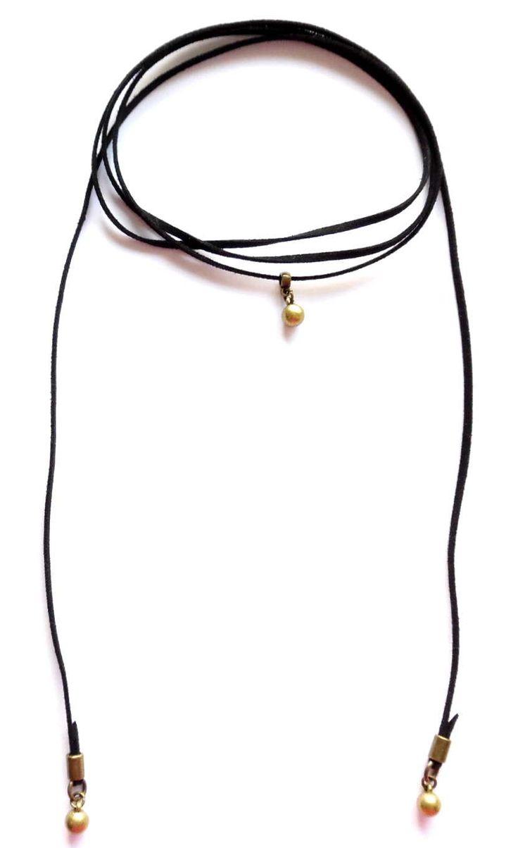 Wrap halsband med bronshängenLady of the Lake Sweden webshop http://ladyofthelake.se #bohemiskasmycken #bohostil #bohemian #jewelry #handmade #svenskdesign
