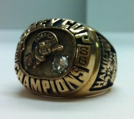 1986 Tiger-Cats Grey Cup Ring