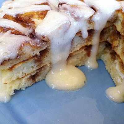 Cinnamon Roll Pancakes! Oh my word I have to try! My co-worker said they we're amazing!