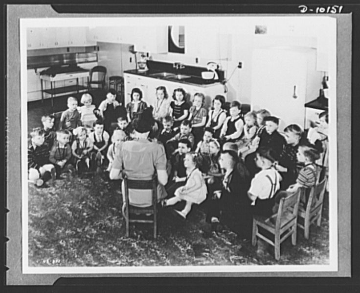 Cute Westinghouse Electric u Manufacturing Co at Mansfield OH teaching good eating habits to children by