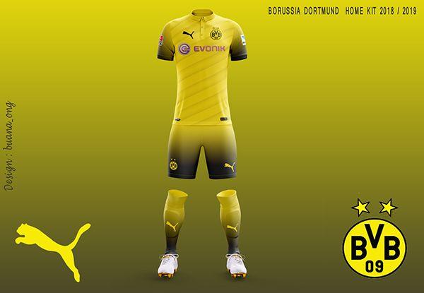 Borussia Dortmund Concept Home Kit 2018-2019 on Behance | Borussia ...