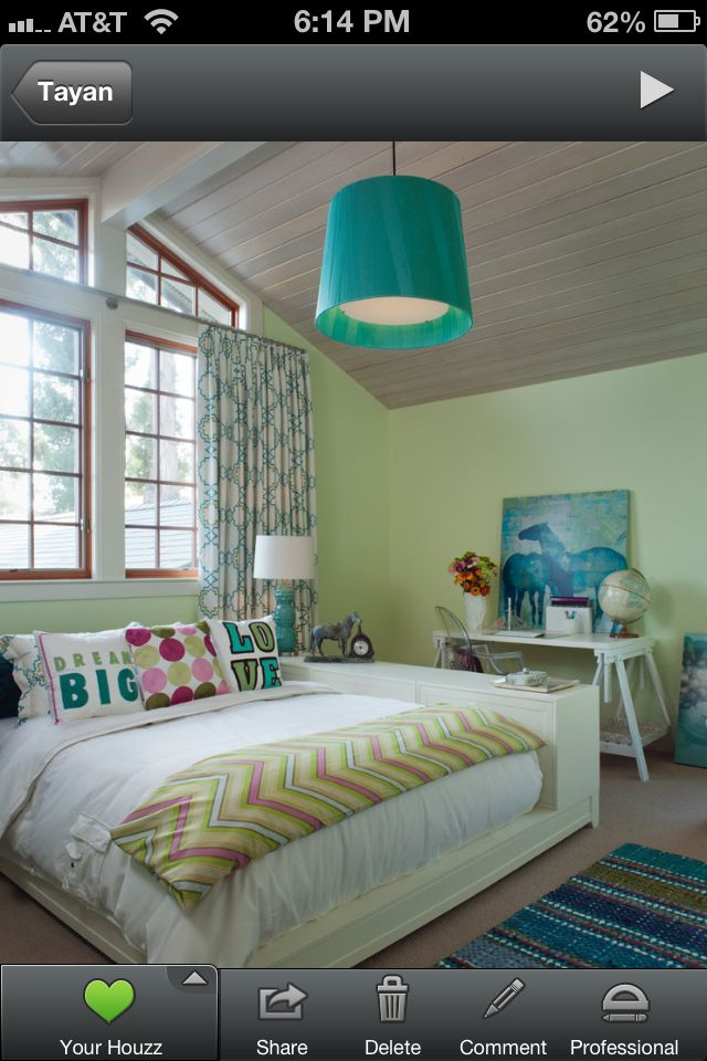 I love the feel of this room for Tayan. The colors are gorgeous and the windows lighten the room nicely!