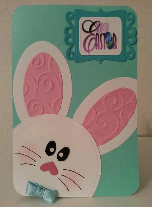 Easter card- I love the embossed ears!