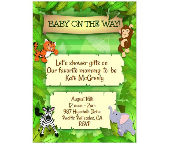 Download this Jungle Animals Party Invitation Card and other free printables from MyScrapNook.com
