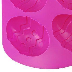 BestCool 6er Mulden Silikon Muffinform Muffin Nett Eier Form Muffinförmchen Kuchen Dessert Cup Cake Pudding Gelee Mini-Cupcake Formenset Kuc...