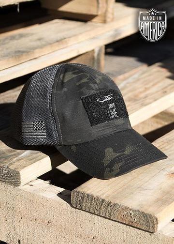 92b6c66f73e Dark American Made Mesh Back Hat with Drop Line | Badass Companies ...
