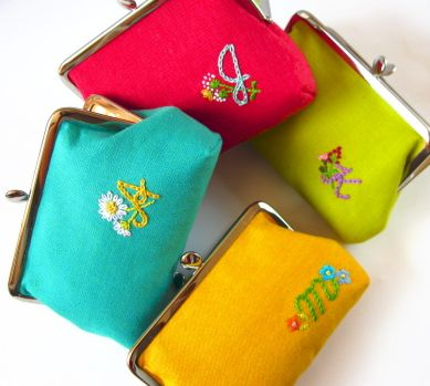 Cute embroidered purses