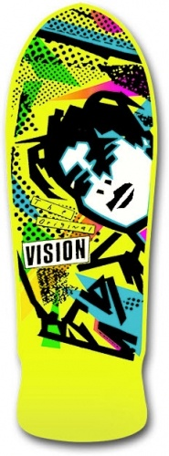 Mark Gonzales old skool Vision Skateboards deck. I still have mine but it is really messed up