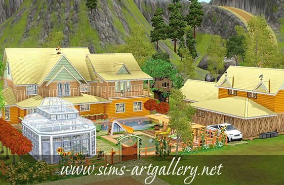 Golden pumpkin farm (New) http://www.sims-artgallery.net/en/gallery/sims-3/lots/residential-lots/medium/946/