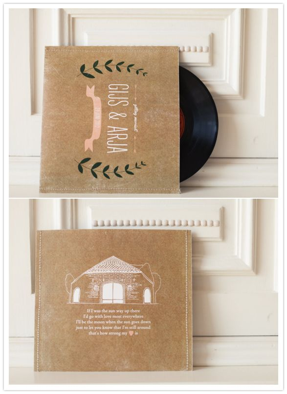 music-themed wedding invitation