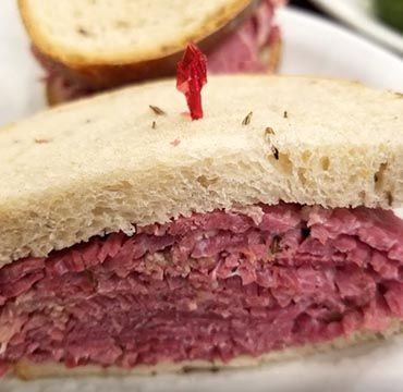 Restaurant - Deli - Bakery Boynton Beach famous matzo ball soup, Bagels, Corned Beef Sandwich, Guy Fieri Food Network visit New York-style Jewish Deli.