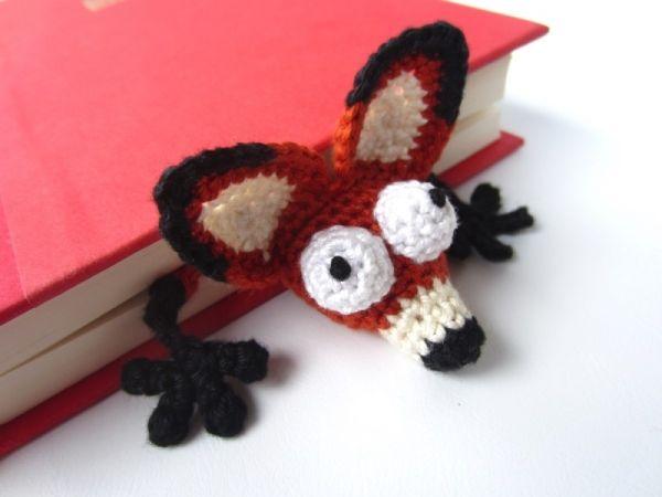 Amigurumi Fox Bookmark - Allcrochetpatterns.net
