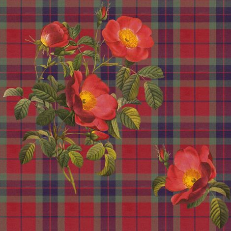 Bonnie Lass of Fraser fabric by lilyoake on Spoonflower - custom fabric