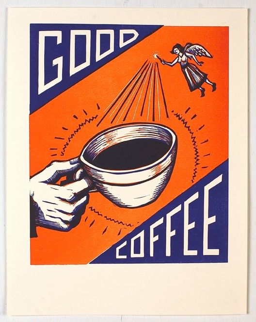 Good Coffee: Memorial Poster, Poster Art, Art Poster, Companyâ Memorial, Memorial Stuff, Memorial Klatch, Cups Of Coffee, Coff Fairies, Coff Break