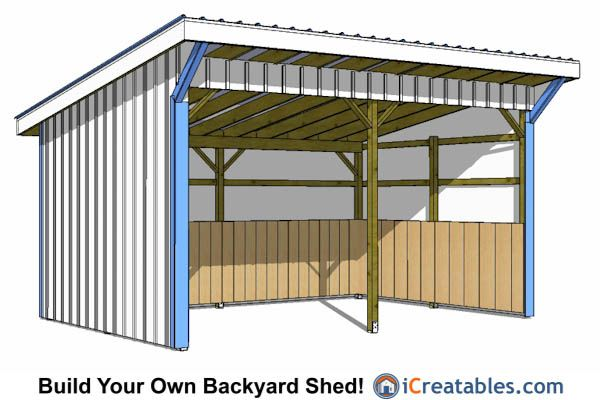 12x18 run in shed plans lean to shed plans pinterest for Horse barn plans free