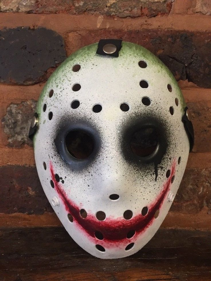 Custom Painted Jason Voorhees Mask. Joker inspired. Friday ...