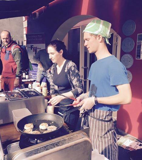 Fishcakes & sunshine... unbeatable combination at Grey's Lane Bistro, Dingle Food Festival 2016.