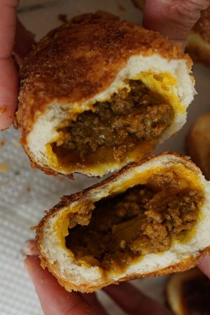KARE-PAN (deep-fried japanese style curry-stuffed bread) [Japan, Yoshoku Cuisine] [painrecipe] [asia pacific bread]