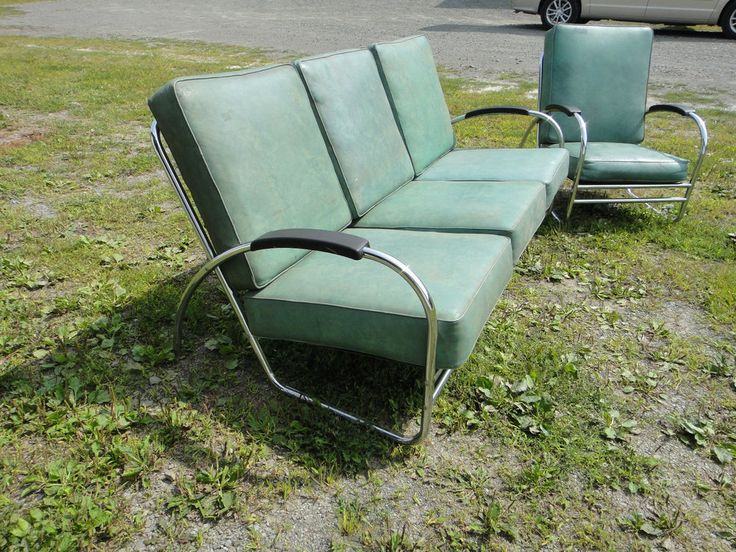 art deco furniture restoration. mid century art deco sofa and chair royal chrome kem weber gilbert rohde art deco furniture restoration r