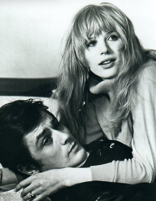 Marianne Faithfull & Alain Delon (1968), Alain Delon, Marianne Faithfull, Black and White
