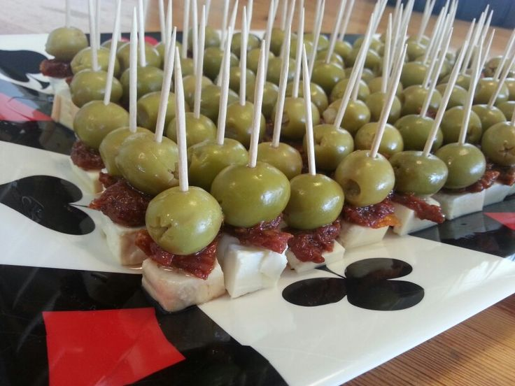 Olives, sundried tomatoes, and smoked feta with olive oil. For my poker birthday party!