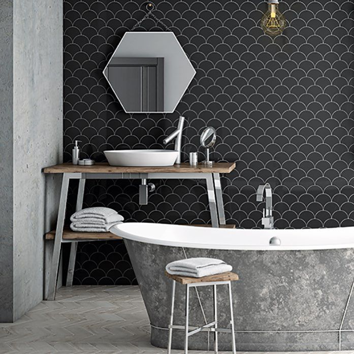Our New Scallop Shaped Fan Tiles Offer A Contemporary Take On A Classic Art Deco Design Available In Eight Colours In Both Art Deco Design Classic Art Design
