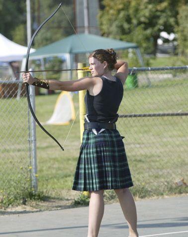 Douglas County Scottish Society Highland Games.  Women's archery