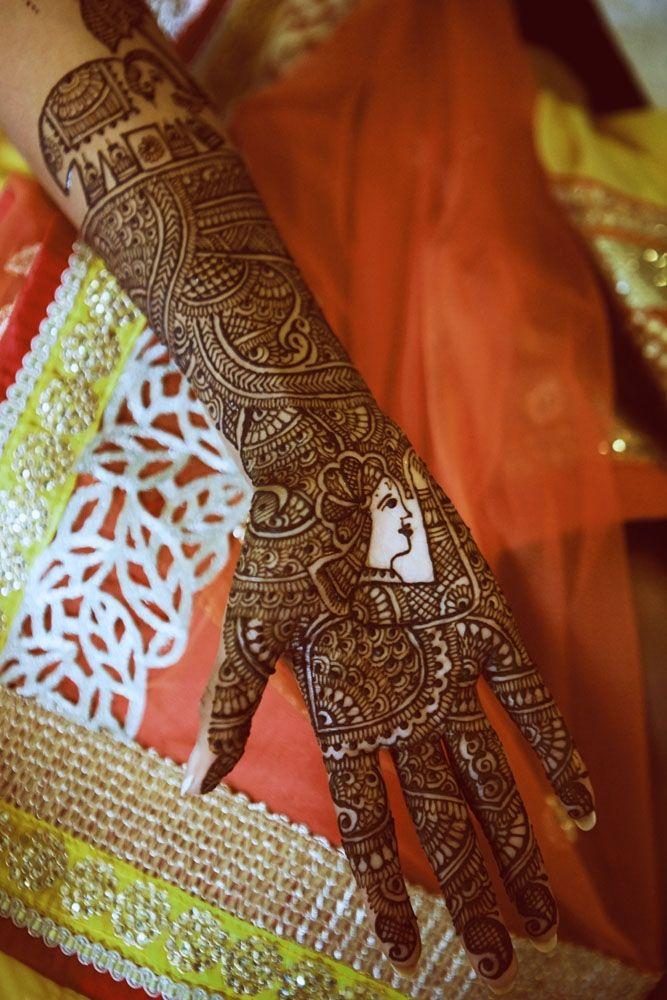 Bridal mehndi or henna designs. Indian bridal mehndi
