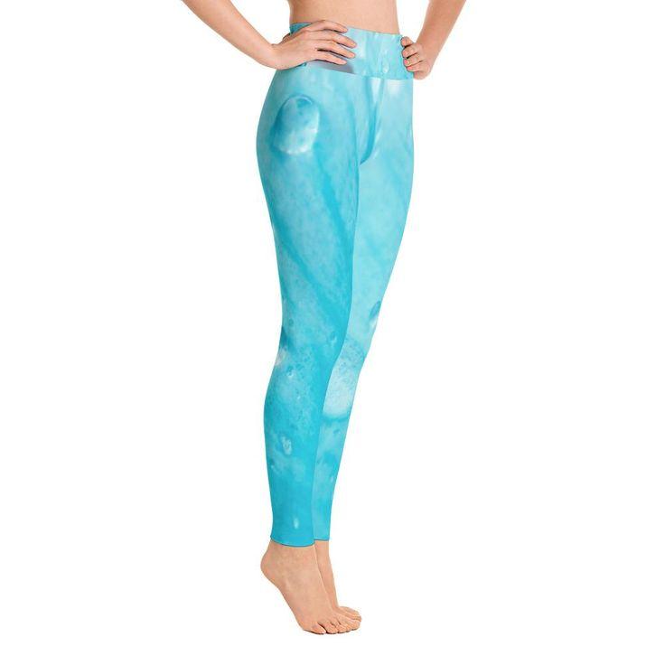 Aquamarine Rosada Yoga Leggings
