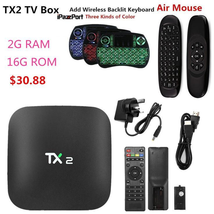Mesuvida TX2 R2 Android 6.0 Smart TV Box BT 2.0 KD Player 2G 16G ARM Cortex-A7 RK3229 32Bit 2.4GHz WiFi 4K 2K Smart Media Player #Affiliate
