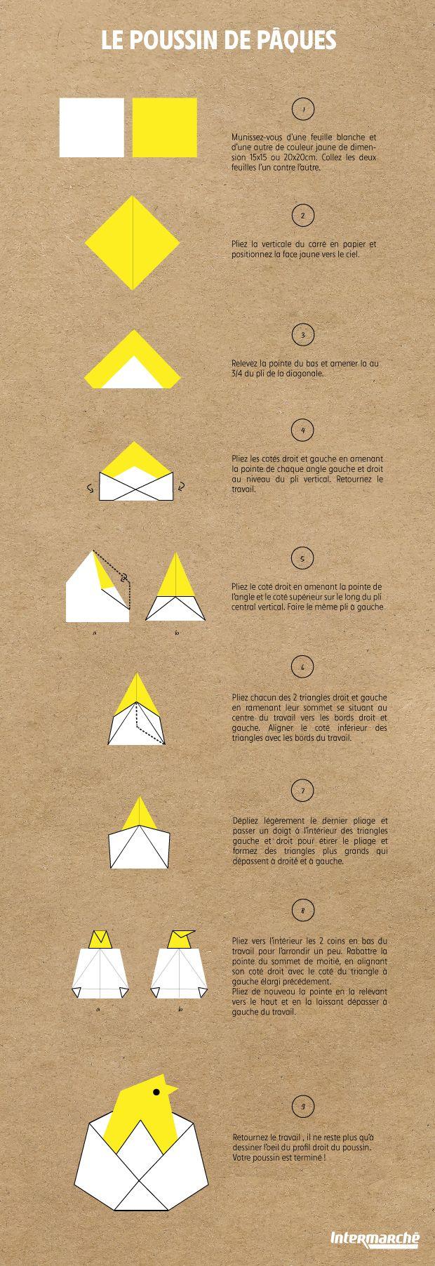 Tuto Origami pour un Poussin de Pâques