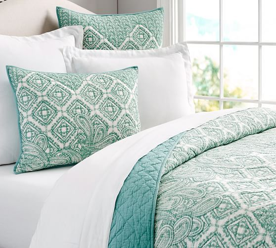 Paulina Paisley Quilt Amp Shams Pottery Barn Home Design