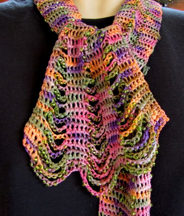 Free Knitting Patterns For Scarves With Beads : 20 best images about Scarfs on Pinterest