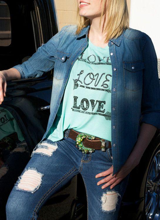 Western Jean Shirt