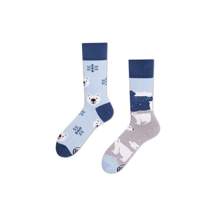 skarpetki w misie polarne Many Mornings Polar Bear socks oddsocks - polscy projektanci / polish designers - made in poland - elska.pl