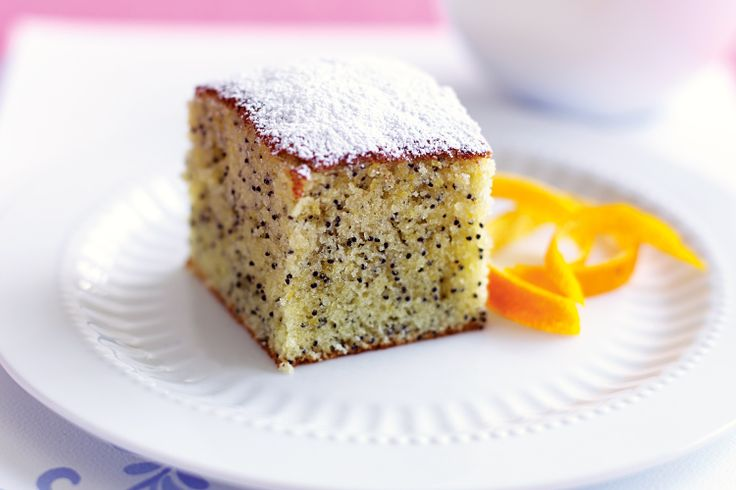 Delicious, light and crumbly, this orange poppyseed cake is a breeze to make.