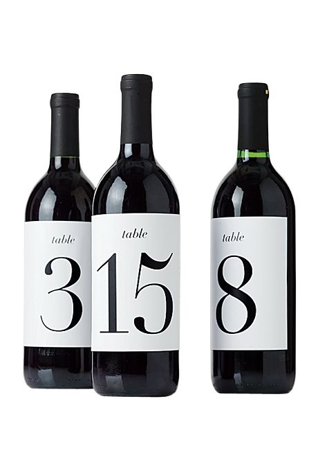 Brides.com: 13 Creative Ideas for a Winery Wedding. Wine bottle table numbers, DIY tutorial available on Brides.com  See more table number ideas.
