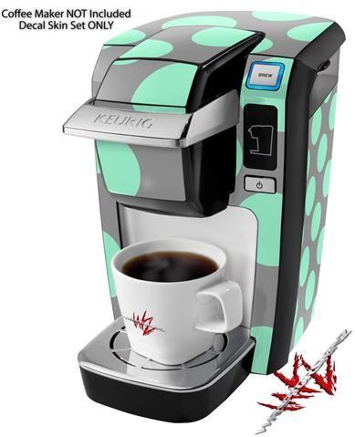 zebra skin decal style vinyl skin fits keurig mini plus coffee makers