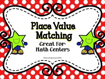 This place value matching game includes numbers up to the hundred thousands. Can be used for math by myself