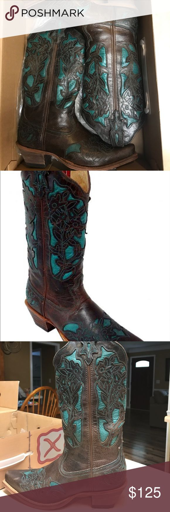 "***Price Drop!*** Twisted X ""Steppin' Out"" Boots Twisted X ""Steppin' Out"" cowboy boots. Super cute and comfortable; just don't wear them enough. Worn twice. Retail is $175. Brand runs a little big on me; usually wear 7.5-8 but these are 7s Twisted X Shoes"