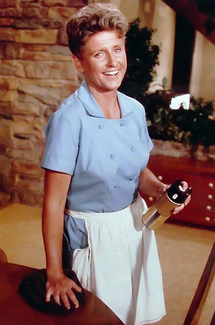 "Ann B. Davis as ""Alice"" in ""The Brady Bunch"". The Brady Bunch original run (1969-1974) but kids still watch it in syndication."