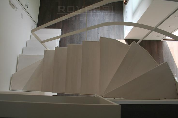 scala a giorno bianca in metallo
