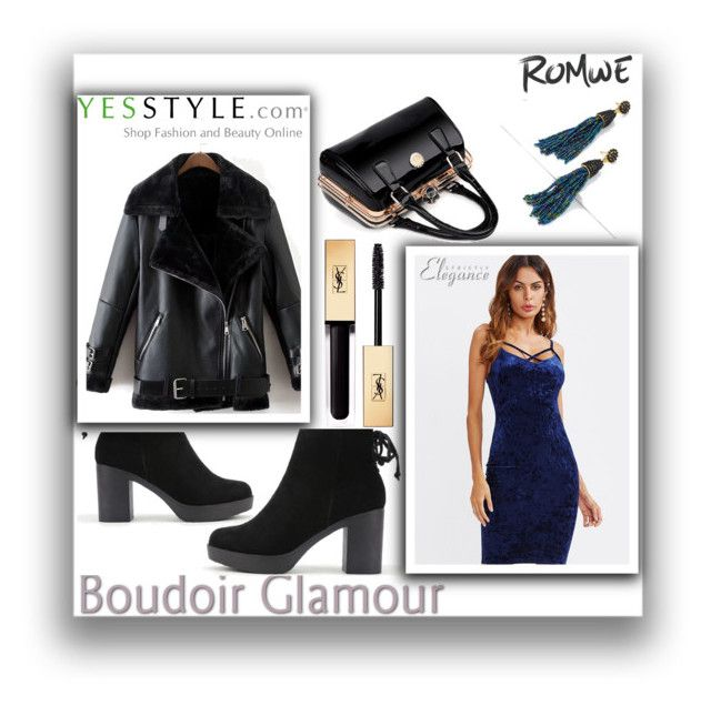 """""""ROMWE 10 / IX"""" by selmamehic ❤ liked on Polyvore featuring Yves Saint Laurent"""