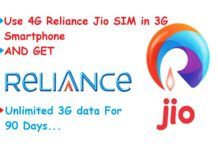 Trick to Use Reliance Jio 4G SIM in 3G Phones