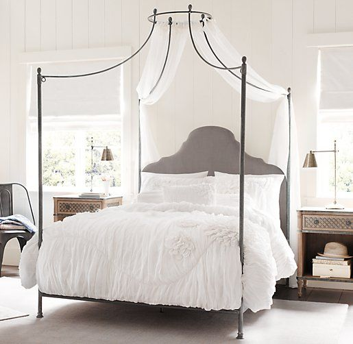 Allegra Iron Canopy Bed | All Beds | Restoration Hardware Baby & Child - okay! THIS will be my bebe girl's next bed! Perfect :)